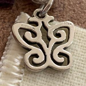 Retired James Avery spring Butterfly charm